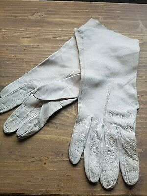 ladies 1940s vintage soft leather gloves
