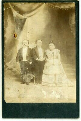 Midget Cab Card- Count & Countess Magri & Baron Magri- Mrs. Tom Thumb- Ca. 1904