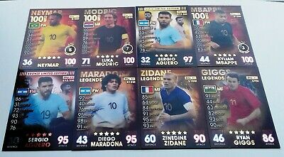Match Attax 101 2019 - 100 Club, Limited Edition, Legends
