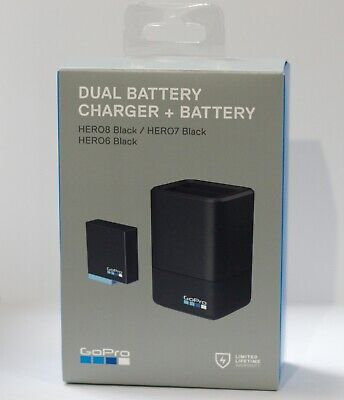 GoPro Dual Battery Charger with Battery for HERO8 & HERO7 & HERO6 AJDBD-001