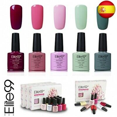 Elite99 Esmalte de Uñas Semipermanente Uñas de Gel UV LED Kit de Manicura 5pcs e