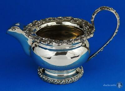 GEORGE IV OLD SHEFFIELD PLATE Footed CREAM / MILK JUG c1825 Foliate Decoration
