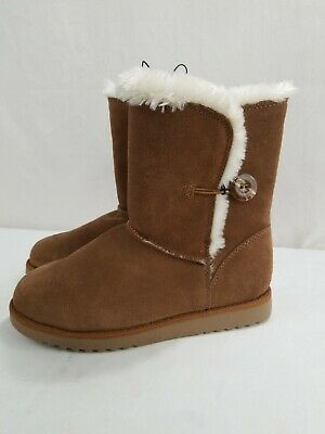 New! Xhilaration Womens Winter Snow Faux Fur Genuine Suede Boots Size 7 Tan
