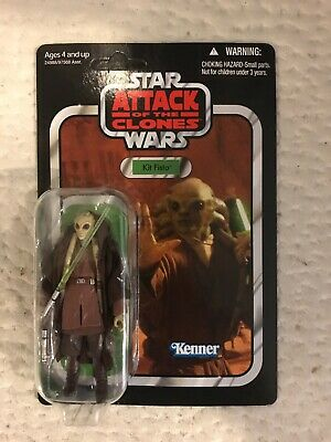 "Star Wars The Vintage Collection Kit Fisto 3.75"" Figure VC29 New Unpunched"