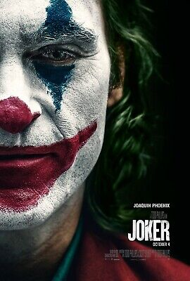 "Movie Poster 2019 DC Comic's and Warner Bros. ""Joker"" Joaquin Phoenix  (3 Sizes)"