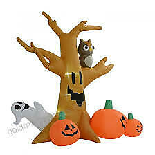 7.5' Tall Outdoor Lighted Airblown Inflatable Halloween Decoration Haunted Tree