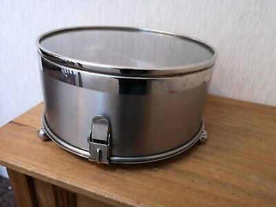 Large Stainless Steel Round Gateau Cake Storage Tin Container Cake Serving Plate