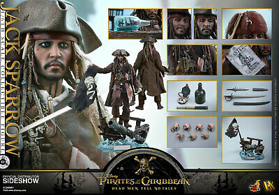 Hot Toys Pirates of the Caribbean Jack Sparrow DX15 Pi1/6 Figure New Doublebox