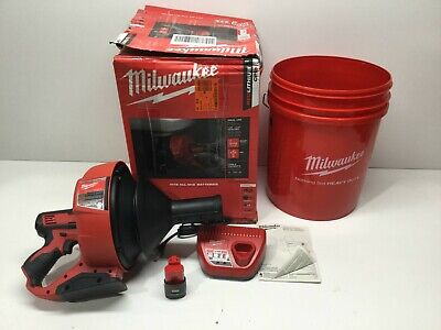 Milwaukee M12 12-Volt Lithium-Ion Cordless Auger Snake Drain Cleaning Kit