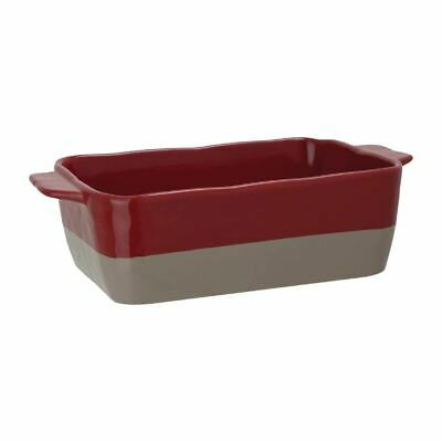 Olympia Red And Taupe Ceramic Roasting Dish Size - 90(H) x 325(W) x 176(D)mm