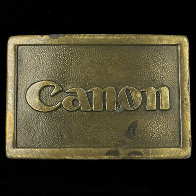 Vtg Canon Film Camera Co Ae-1 35mm Photography Photographer Gift Belt Buckle