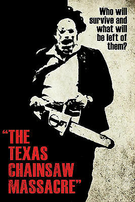 """Poster - Texas Chainsaw Massacre - Leatherface Silhouette 24""""x36"""" 241296"""