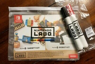 Nintendo Labo Stamp Marker Bag Pouch Promotional Set - Rare Toy-Con Switch Promo