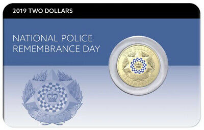 2019 National Police Remembrance Day - Specimen UNC $2 - Commemorative Card