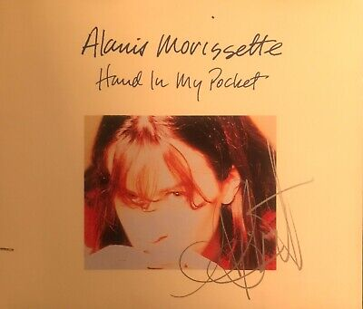 Alanis Morisette Autographed Hand In My Pocket Promo CD Cover