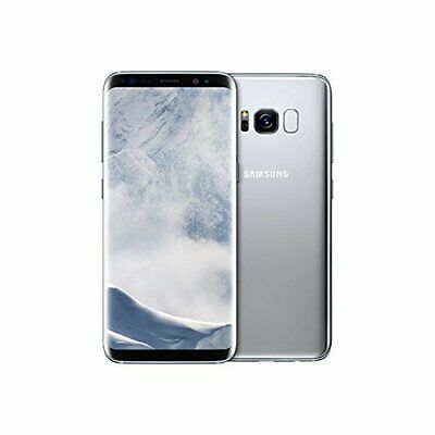 Samsung Galaxy S8+ Plus SM-G955A 64GB SILVER GSM Unlocked. Has LCD Burn PREOWNED