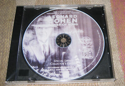 LEONARD COHEN TOWER OF SONG, DVD, 2018 Promotional DVD from PBS + Bonus Footage!