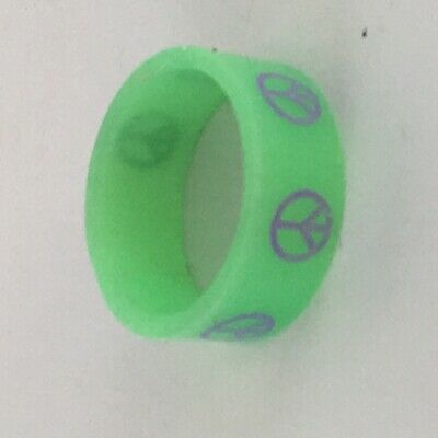 1957 A vintage Green silicone ring with the CND symbol printed on the outside