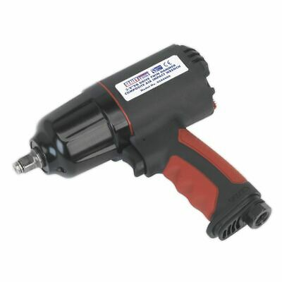 """Sealey Composite Air Impact Wrench 3/8""""Sq Drive Twin Hammer GSA6000"""
