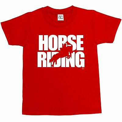 HORSE RIDING LOVERS PONY BOYS GIRLS UNISEX GIFT TEE TOP BORN TO RIDE T-SHIRT