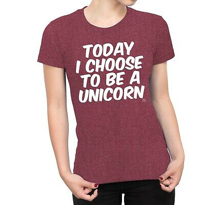 1Tee Womens Today I Choose To Be A Unicorn T-Shirt