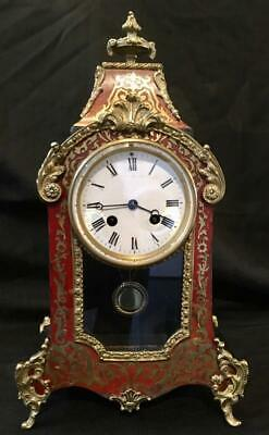 Antique french bombe boulle clock