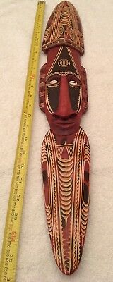 Hand Carved Wood Papua New Guinea Mask Wall Art