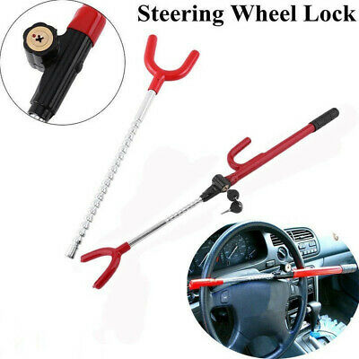 Red Heavy Duty Steering Wheel Lock Anti Theft Security System Car Truck SUV Auto