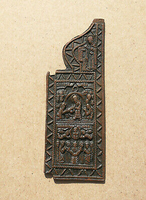 Authentic Medieval Period Bronze Icon With Scene From The Life Of Jesus