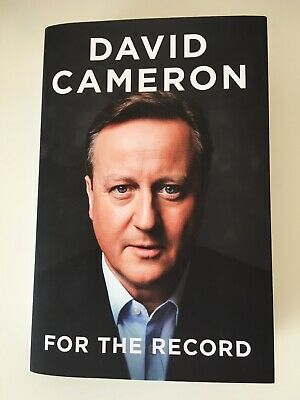 David Cameron For The Record - First Edition - Hardback Book. Read Once Like New