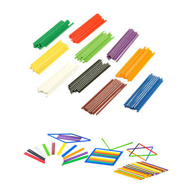 Counting Sticks 100p Bag 10 Colours  Maths Learning Resource Aid Kids