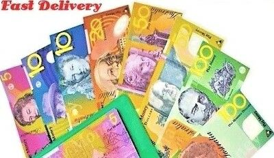 Education Resource Australian Plastic Play Money: 5 x  all notes
