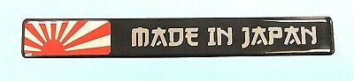 1 x 150mm 'MADE IN JAPAN' Sticker With RISING SUN - HIGH GLOSS DOMED GEL