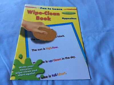 Fun To Learn - Wipe Clean Book - Opposites