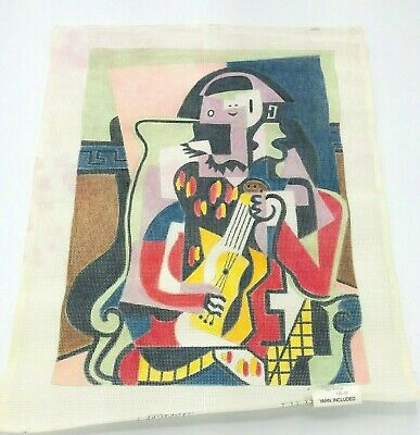 Hand Painted Needlepoint Canvas Vogue Picasso Abstract Modern MCM