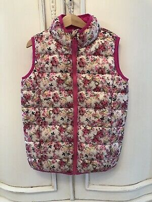Ln Girls Joules Pink Floral Gilet Body Warmer Age 8