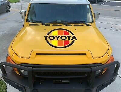 TOYOTA VINTAGE FOR HOOD 70's 80's RAINBOW COLOR DECAL 4RUNNER TACOMA FJ CRUISER
