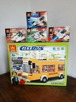 Wholesale Bundle Job Lot Clearance Toys Blocks Lego Compatible Space Ship 5 Boxs