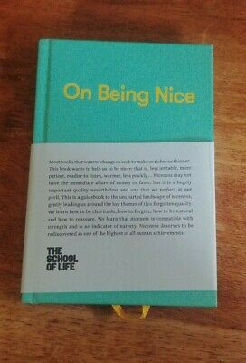 On Being Nice by The School of Life (Hardback, 2017)