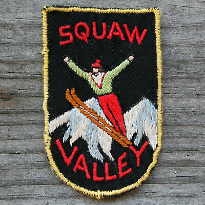Early Vintage SQUAW VALLEY Ski Patch CALIFORNIA Skiing Travel CA Olympics HTF