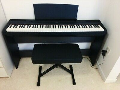 Yamaha P-115 digital piano weighted keys with stand, pls check pics & read desc
