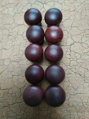 Vintage Retro door knobs wooden industrial mahogany 10 knobs per unit