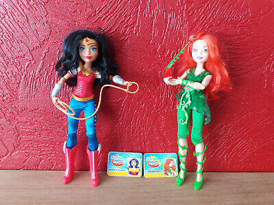 DC super Hero Girls Action Figure Dolls Poison Ivy and Wonder Woman