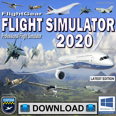 Flight Simulator 2019 Flightgear Full Pro Flight Sim For Windows© 10, 8, 7 PCs