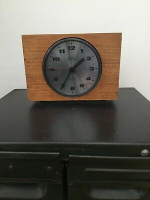 Vintage Diehl Electronic ATO-MAT Wooden Mantel Clock, Working