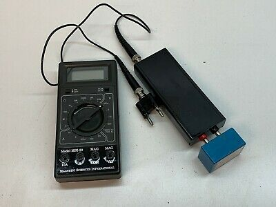 Magnetic Sciences MSI-20 Multi Meter with MAG CHECK Guassmeter Converter