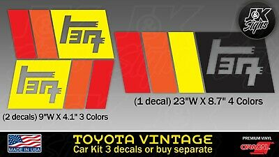 Toyota Vintage Set Rainbow Colors Fj Cruiser 4Runner Tacoma