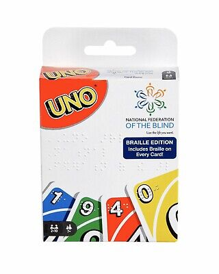 UNO Card Game - Braille Edition - IN HAND - Braille On Every Card