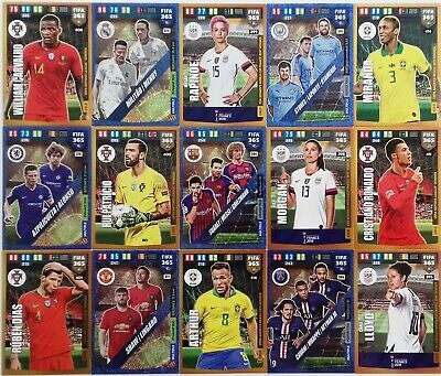 PANINI Adrenalyn XL FIFA 365 2020 GOLD, DYNAMIC DUO, POWER TRIO Cards