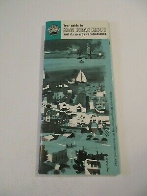 Vintage Pictorial Travel Info Guide to San Francisco California & Map Booklet-F5